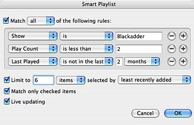 Blackadder Smart Playlist