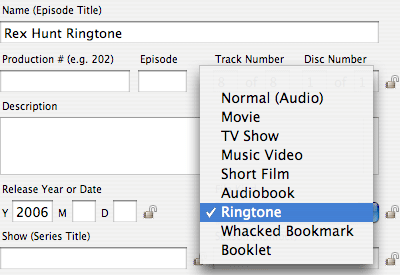 Lostify 0.7: Set Ringtone File Kind