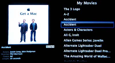 Apple TV Movies Menu