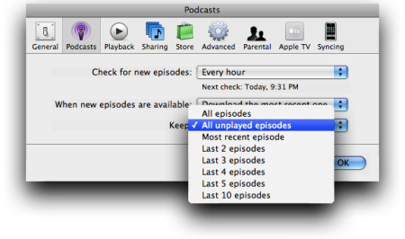 Keep All Unplayed Episodes