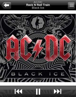 AC/DC • Black Ice Landscape Artwork on iPhone