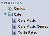 Cafe Playlist Folder